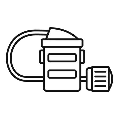 Mine flashlight icon, outline style