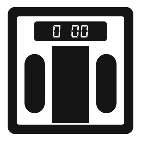 Weight digital scales icon, simple style
