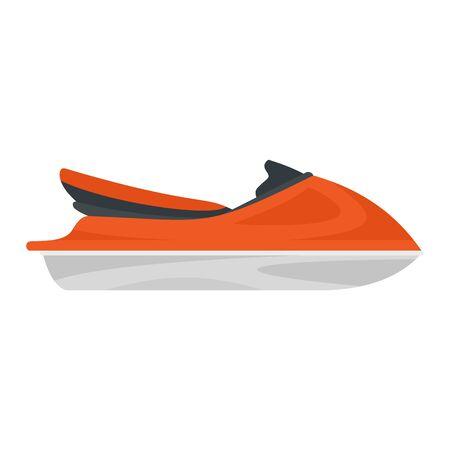 Jet ski icon, flat style