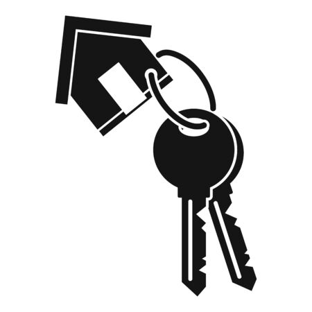 House keys mortgage icon, simple style Çizim
