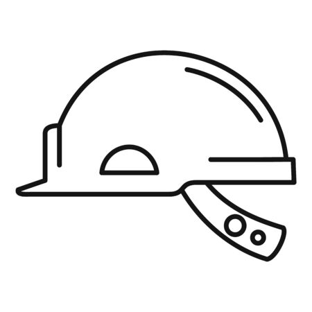 Mine worker helmet icon, outline style