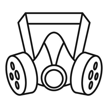 Mine gas mask icon, outline style Ilustração