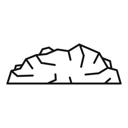 Charcoal icon, outline style Ilustração