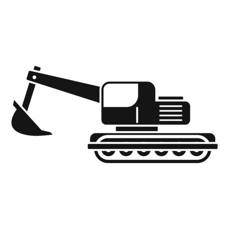 Coal excavator icon. Simple illustration of coal excavator vector icon for web design isolated on white background