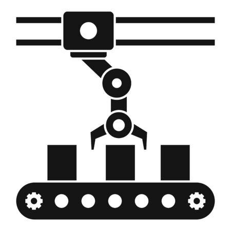 Parcel assembly line icon, simple style Illustration