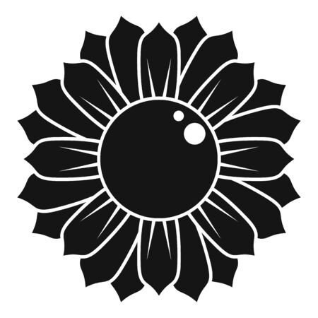 Sunflower icon, simple style