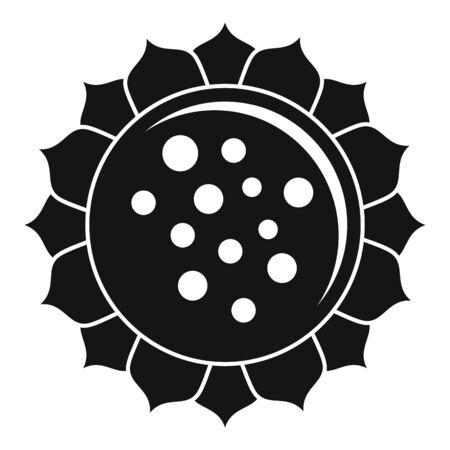 Spring sunflower icon, simple style