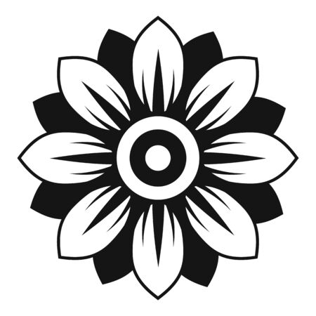 Seed sunflower icon, simple style Vectores