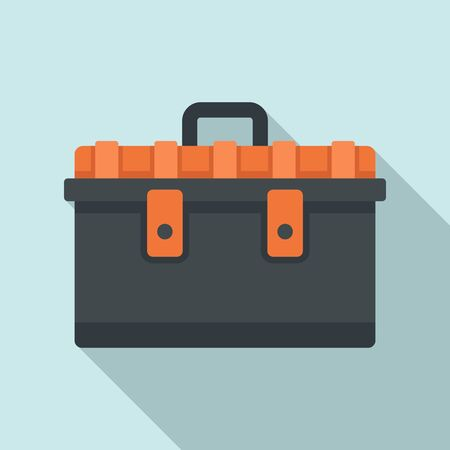 Tool box icon. Flat illustration of tool box vector icon for web design