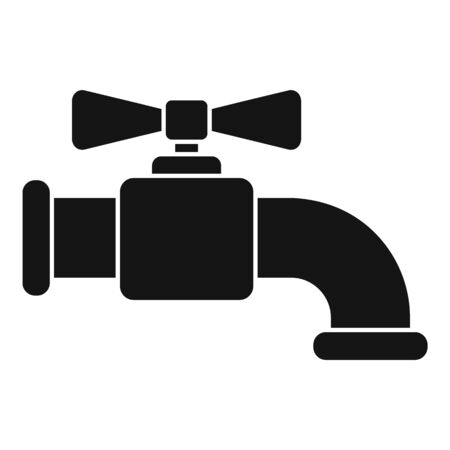 Water faucet icon, simple style Illustration