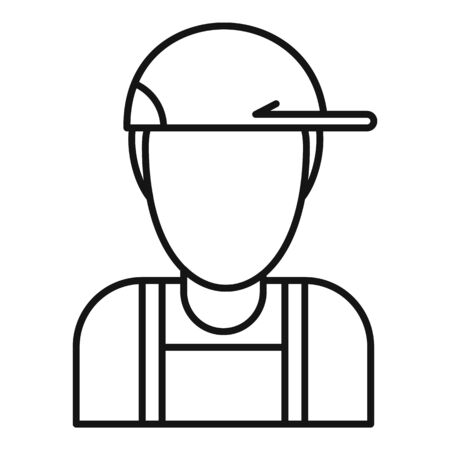 Plumber avatar icon, outline style