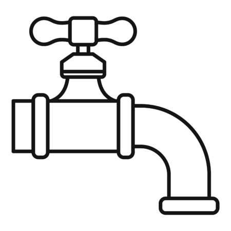 Water tap icon. Outline water tap vector icon for web design isolated on white background