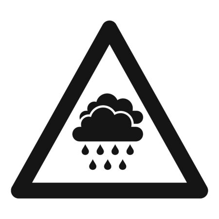 Attention flood icon, simple style Illustration