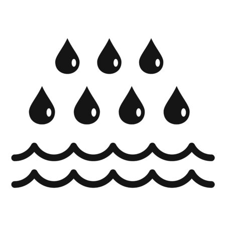 Rain flood icon, simple style Stock Illustratie