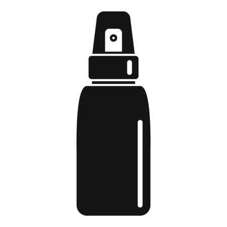 Deodorant spray bottle icon, simple style Illustration