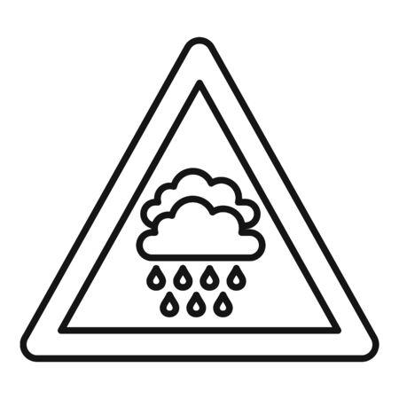Attention flood icon, outline style Ilustração
