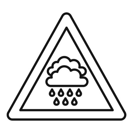 Attention flood icon, outline style Illustration