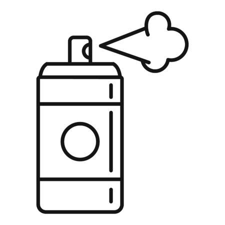 Deodorant spray bottle icon, outline style