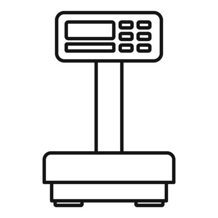 Digital scales icon. Outline digital scales vector icon for web design isolated on white background
