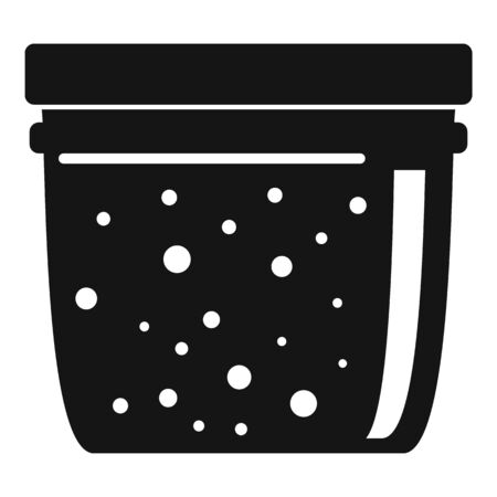 Home jam jar icon. Simple illustration of home jam jar vector icon for web design isolated on white background Çizim