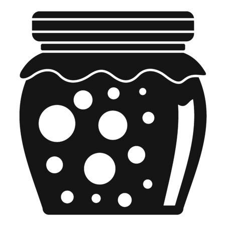 Tasty jam jar icon. Simple illustration of tasty jam jar vector icon for web design isolated on white background