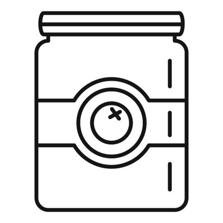 Exotic fruit jam icon, outline style