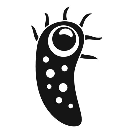 Cell bacteria icon, simple style
