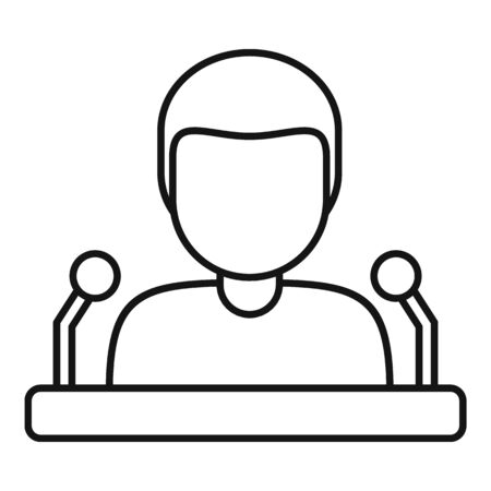 University speaker icon, outline style