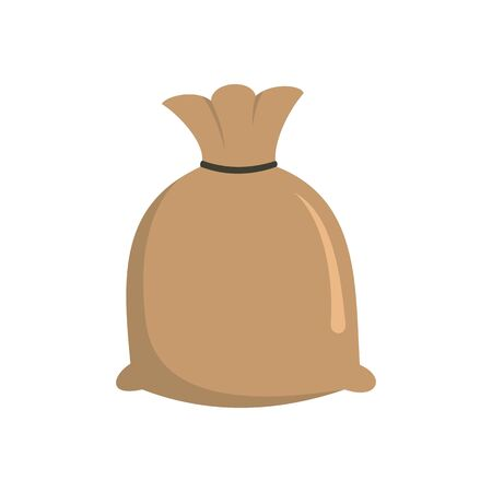 Sack rice icon, flat style 矢量图像