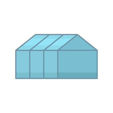 Home greenhouse icon, flat style