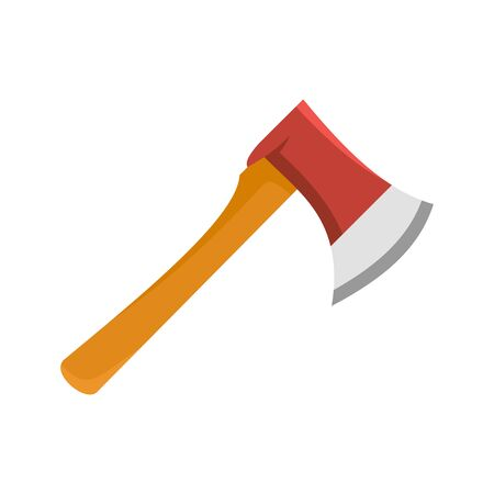 Home axe icon, flat style