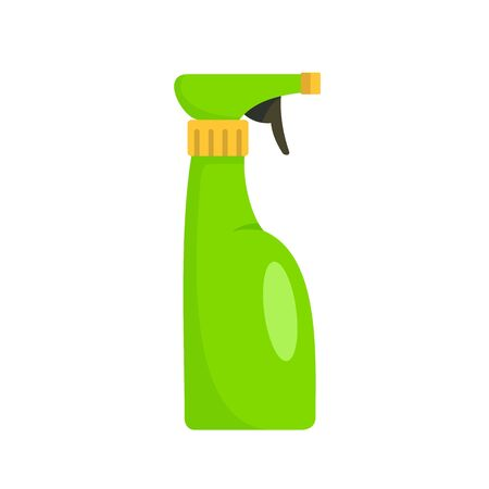 Spray bottle icon, flat style