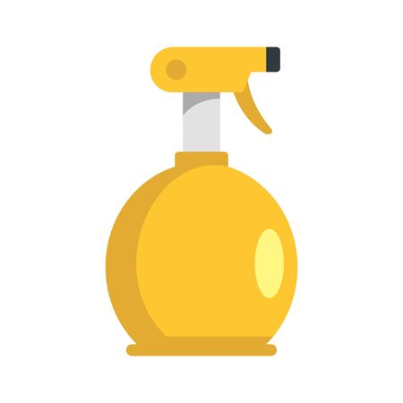 Water spray bottle icon, flat style