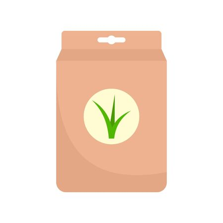 Seed plant package icon, flat style Çizim