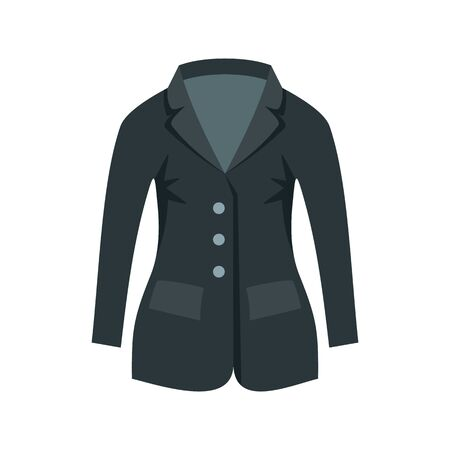Horse riding jacket icon, flat style Ilustrace