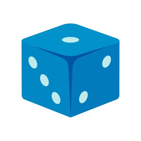 Classic dice icon, flat style Banque d'images - 131152705