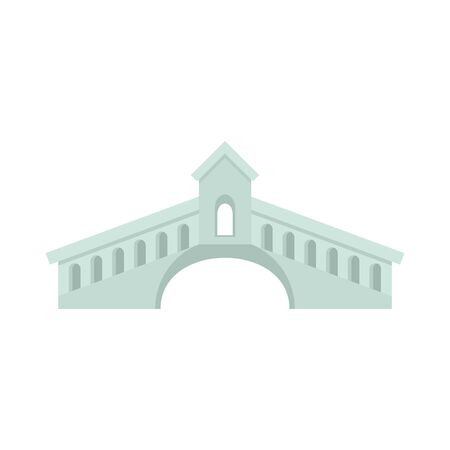 Architecture bridge icon. Flat illustration of architecture bridge vector icon for web design