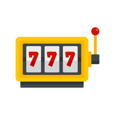 Casino slot machine icon, flat style