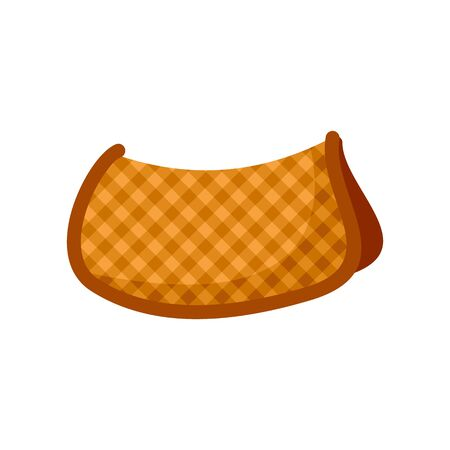 Cotton warm saddle icon. Flat illustration of cotton warm saddle vector icon for web design  イラスト・ベクター素材