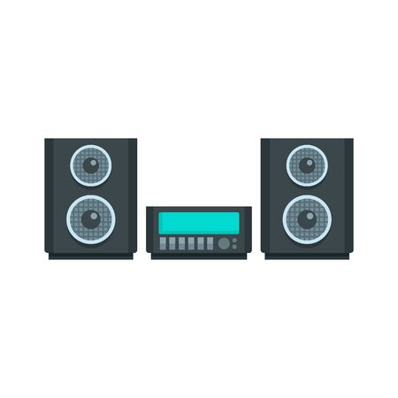 Digital stereo system icon, flat style Stock Illustratie