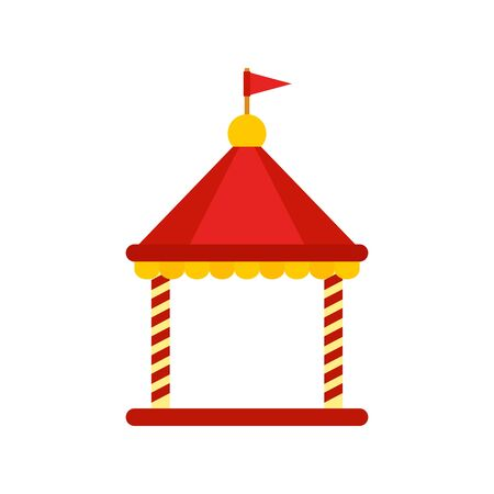 Kid castle tent icon, flat style