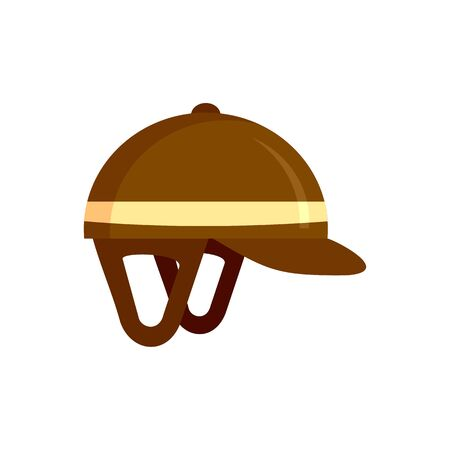 Horseback riding helmet icon. Flat illustration of horseback riding helmet vector icon for web design