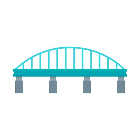 Safe bridge icon. Flat illustration of safe bridge vector icon for web design