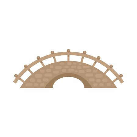 Bridge building icon. Flat illustration of bridge building vector icon for web design