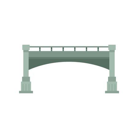 Small bridge icon. Flat illustration of small bridge vector icon for web design