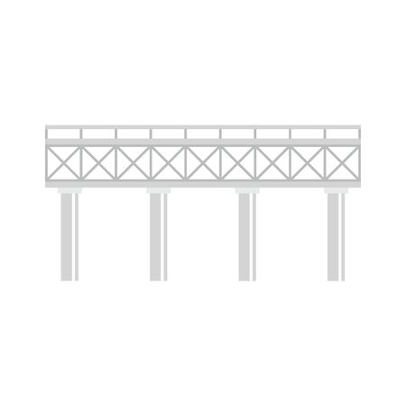 Railroad bridge icon. Flat illustration of railroad bridge vector icon for web design