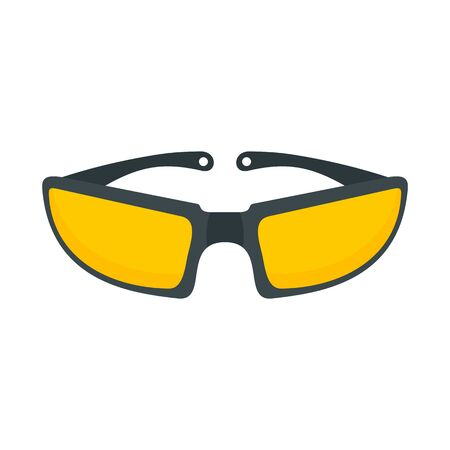 Bike glasses icon, flat style