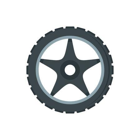 Bike wheel icon, flat style Illusztráció