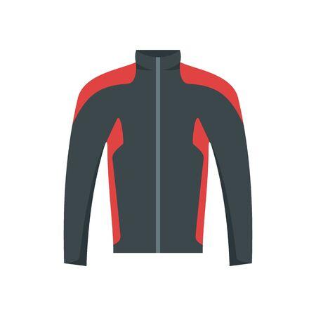 Bike jacket icon, flat style Illustration
