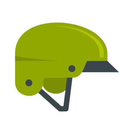 Mountain bike helmet icon, flat style